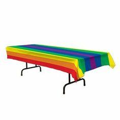 Rainbow Tablecover Party Accessory (1 count) (1/Pkg) Rainbow. $6.48