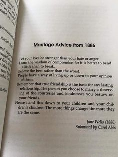 Marriage advice from 1886 #love