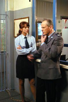 Anna Przybylska na planie serialu ''Złotopolscy''