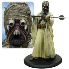 Star Wars Tusken Raider Cold Cast Statue Sculpture by Attakus. $349.95. This statue is in scale to all of the other Attakus Star Wars statues and includes display base.. This Tusken Raider Statue is designed on his appearance in the original Star Wars, stands approximately 15-inches tall, and is made of cold-cast porcelain.. Limited edition of 1,700 pieces.. The Attakus Collection has always provided the highest quality Star Wars statues with the greatest detail.. This ...