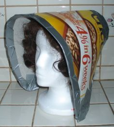 How to make a cardboard and duct tape bonnet... Hmm, that might just do... :)
