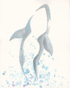 orca watercolor tattoo - my next one