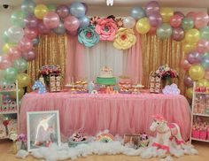 "Unicorns / Birthday ""Keana's Unicorn 1st birthday party"" | Catch My Party"