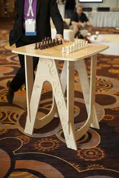 CNC-router-made gaming table