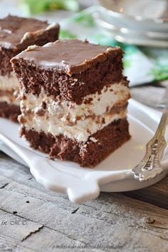 Brownie Recipes, Cookie Recipes, Dessert Recipes, Sweets Cake, Cookie Desserts, Potica Bread Recipe, Polish Recipes, Yummy Cakes, Sweet Recipes