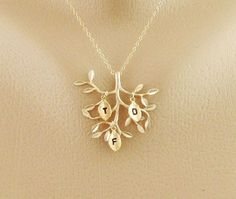 I want...hint hint! Family Tree Jewelry THREE initial Necklace Gold Live by hotmixcold, $33.00