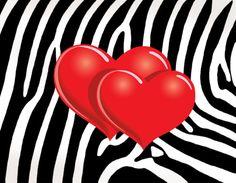 Imagens para imprimir- plano de fundo zebra preto e branco - coração- Blog Dikas e diy