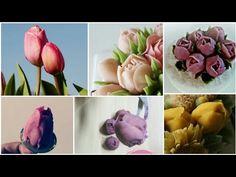 YouTube Buttercream Decorating, Buttercream Cake, Cake Decorating Videos, Cookie Decorating, Cake Tutorial, Flower Tutorial, Buttercream Flowers Tutorial, Tulip Cake, Royal Icing Piping