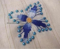 Beaded Kamal Kadai - a mini tutorial