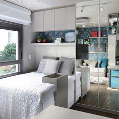 57 Ideas Loft Bedroom Storage Ideas Basements For 2019 Bedroom Wardrobe, Bedroom Loft, Bedroom Storage, Home Decor Bedroom, Girls Bedroom, Small Apartments, Small Spaces, Trendy Bedroom, Interior Design