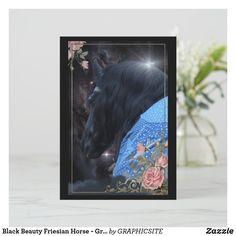 Black Beauty Friesian Horse - Greeting Card Photo Composition, Friesian Horse, Black Beauty, Nativity, Spirituality, Greeting Cards, Horses, Canvas, Digital