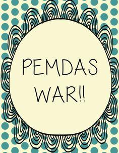Math Made Gr8: PEMDAS War