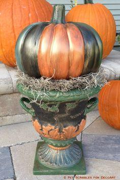 528 best diy pumpkin tutorials images on pinterest fall crafts fall decor antiqued outdoor pumpkin urn patio paintoutdoor paintdiy pumpkinpumpkin craftsfall solutioingenieria Choice Image
