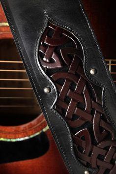 Ethos Custom Brands - Celtic Crimson Guitar Strap