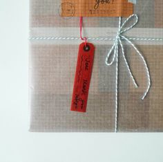 Wax Paper Tag by Classiky from Tabiyo Shop
