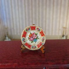 Miniature Dollhouse Christopher Whitford Red Plate