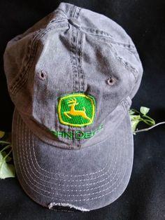 $12.96 or best offer John Deere Cap Hat Adjustable OSFM #JohnDeere #BaseballCap