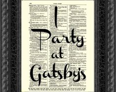 I party like gatsby!