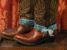 Turquoise Sequins Boot Bracelets/  Cowgirl by TheMaidensFlower, $19.95