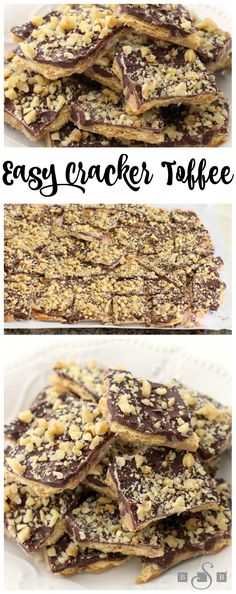 Easy Cracker Toffee - keep for yourself or package in a treat box for a sweet DIY gift this holiday season  from Butter With A Side of Bread