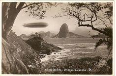 Zepellin sobre o Rio de Janeiro, visto de Niterói, anos 30