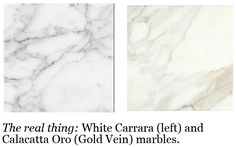 Alternatives to White Marble Countertops (very helpful info)