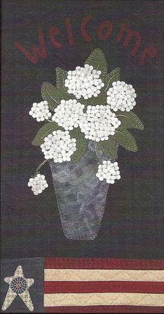 Primitive Folk Art Wool Applique Pattern: HOME GROWN - Etsy