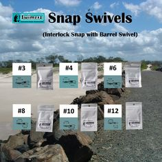 Snap swivels make changing lures so much easier, particularly when fishing from kayaks and other small boats, or simply when a fast changeover is desirable. Swimerz use an Interlock Snap for strength, avoiding the problems associated with some other snap types opening when least needed. Black nickel coated for reduced visibility in the water and corrosion resistance.