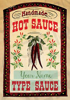 This listing is for a set of 16 Vintage Homemade Hot Sauce Labels, Hot Sauce Digital Download, Printable Hot Sauce Labels, Label Sheet, Hot