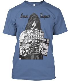 Sound Reaperz Denim Blue T-Shirt Front