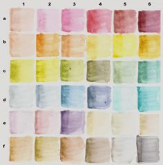 ༺༺༺♥Elles♥Heart♥Loves♥༺༺༺ ............♥Color Charts♥............ #Color #Chart #ColorChart #Inspiration #Design #Moodboard #Paint #Palette #Decorate #Art #Renovate ~ ♥Tim Holtz Distress Marker Color Charts-Dry and Wet | lifeimitatesdoodles