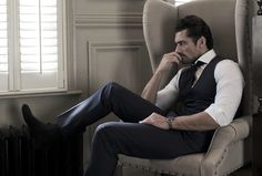 David Gandy for David Preston Shoes @DPrestonShoes . Photographed by Victoria Birkinshaw. Hair by Larry King. Styling and clothing is David's own. January, 2015