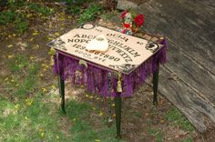 Sweet Gypsy Ouija Table Spirits Speak. by tinkwitch via Etsy.