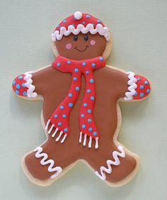 Prepared for Winter Gingerbread Man Cookie
