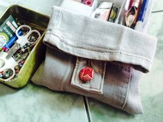 just made this mini pouch from old jeans #diy #jeans #clutch
