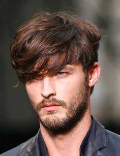 Men medium hair with bangs