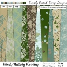Utterly Flutterly Wedding Damask Floral Papers 12 x 12 on Craftsuprint - View Now! Fabric Paper, Paper Texture, Be My Valentine, Damask, Scrapbook Paper, Card Stock, Mosaic, Crafty, Floral