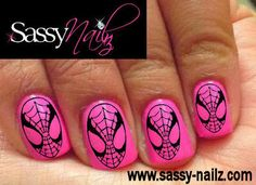 Superhero Nail Art Dress Up Spiderman Nail by SassyNailzIreland, $3.00
