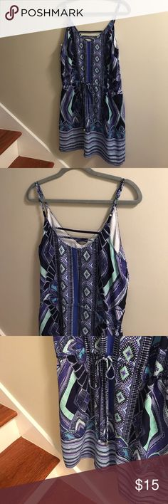 Fun summer dress! Cute summer dress! Worn once. Great colors and fit! 100% Polyester. mercer & madison Dresses