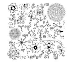 42 Swirl Doodles Images- Digital Clipart - PNG - JPG - Vector - Hand Drawn - Limited Commercial Use - Instant Download - Digital Stamp