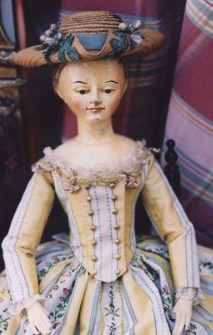 Early Wooden Fashion Doll. These wooden figures were used to display dresses and accessories to buyers.