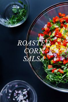 Roasted corn salsa /