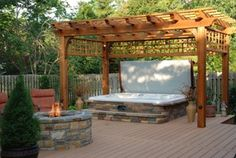 What an awesome hot tub space.