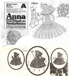 Solo esquemas y diseños de crochet: DAMA EN CROCHET