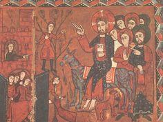 Altar Frontal; Painting; 1200 A.D.; Subject: Christ entering Jerusalem via donkey; Artstor
