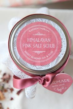 Healing Himalayan Pink Salt Scrub, heals, soothes and revitalizes your skin!  Mother's Day, Gifts, Wedding favors, Christmas, Office gift exchange