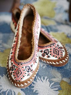 Free People Bohemia Ballet Slipper at Free People Clothing Boutique » These are beautiful!