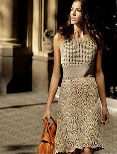 Hooked on crochet: Beautiful Crochet Dress / Lindo Vestido de Crochê