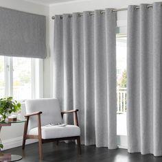 Franklin Mist - Readymade Triple-Weave Eyelet Curtain - Curtain Studio buy curtains online