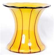 Loetz Powolny Yellow black Art Glass